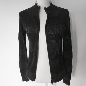 Armani exchange M black zippered cardigan